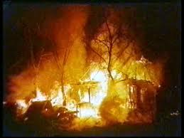Пожар в селе Фроловка