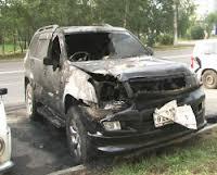 Благовещенской предпринимательнице подожгли автомобиль
