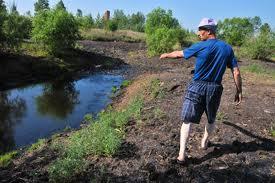 Озеро в Среднебелой хотят избавить от мазута