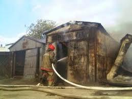 Пожар в Белогорске