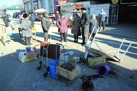 Погром на уличном рынке