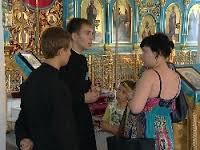 Добровольцы-консультанты в благовещенском кафедральном соборе