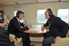 Рабочая встреча Путина в аэропорту