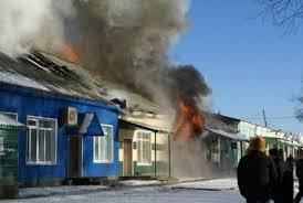 В амурском райцентре Экимчан загорелся магазин