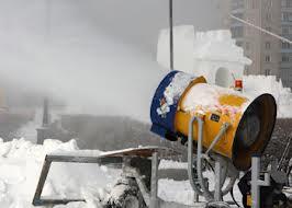 Снежная пушка в Белогорске