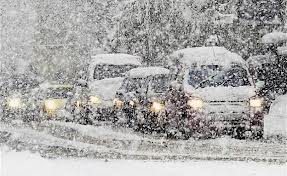 В Благовещенске сильный снегопад