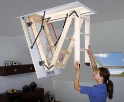 Чердачные лестницы устанавливают не только на чердаках