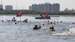 15-й международный заплыв «Дружба» через реку Амур