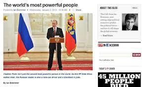Владимир Путин лидирует в списке самых влиятельных политиков современности