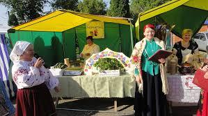 Тенты для казачьей ярмарки в селе Грибское