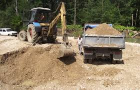 В результате незаконной добычи песка, строители Восточного причинили ущерб государству