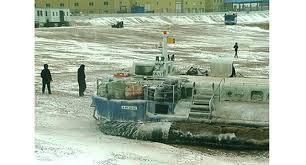 Российский «Скат» застрял на льду