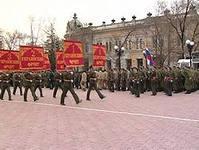 В параде Победы приняли участие полторы тысячи военных