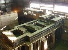 Строительство фундамента турбины и градирни второй очереди ТЭЦ