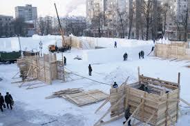В Белогорске начинаются работы по строительству снежного городка