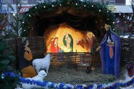 Рождественский вертеп с живыми «библейскими» животными