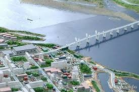 Подготовка к строительству хэйхэского автодорожного моста через реку Амур