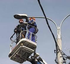 В Белогорске устанавливают новое освещение